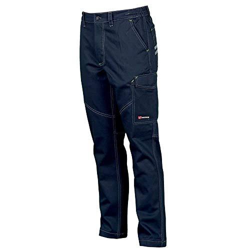 Payper - Pantalone da lavoro WORKER. Blu navy (M)