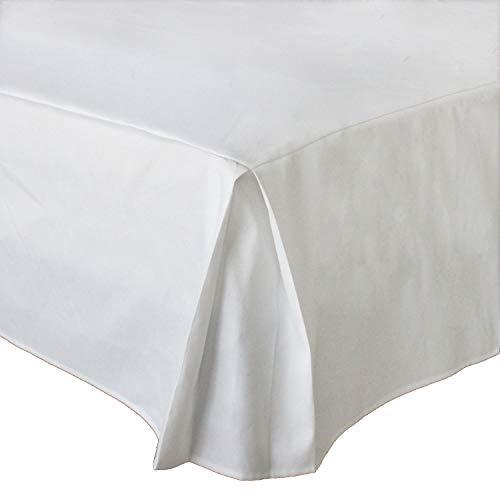 MUZIDP Polyester-Baumwolle bettrock,Elastischen Falten Staub Hotel bettwäsche extra-Weiß 180x200x30cm(71x79x12inch) (12 Zoll Bett Rock)