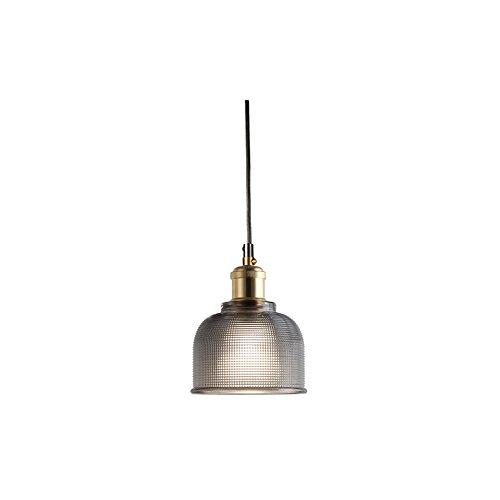 wings of wind - Glas Pendelleuchte, Vintage Industrial Hängeleuchte, Loft Style Kronleuchter, Glas Lampenschirm Leuchte (Grau) -