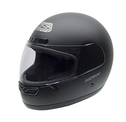 NZI - Casco per moto, Nero Opaco, 57 (M)