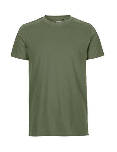 Spirit of Isis Neutral- T-Shirt, 100% Bio-Baumwolle. Fairtrade, Oeko-Tex und Ecolabel Zertifiziert Olive