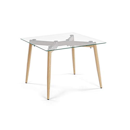 ARREDinITALY Table Design Plan Verre carré 60 x 60
