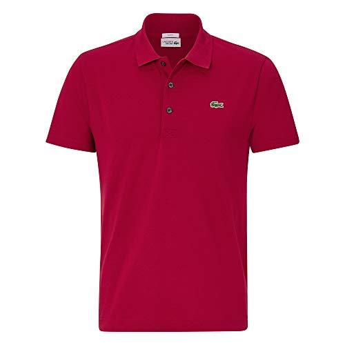 Lacoste Herren Polo Shirt Kurzarm YH4801,Männer Polo-Hemd,3 Knopf,Regular Fit,Bordeaux(476),X-Large (6)
