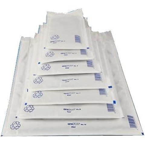 1000 x Buste imbottite Bianco - tg. E / 5 [ 240 x 275 mm ] Bolla Borse Buste Mailers