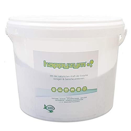 happyzym Enzymreiniger und Geruchsentferner 10Kg inkl. 5 x 500ml Sprühflasche (mit Sprühflasche) -