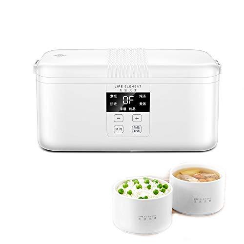 KELUNIS Elektro-Lunch Box, Mini Rice Cooker, Large Capacity Food Warmer Container mit 2 Keramik-Cups für Kochsuppe, Reis, Staus, Getreide & Haferflocken, gedampfte Eier