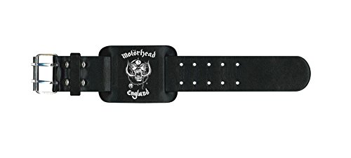 Price comparison product image Motorhead England Official New Black Leather Wristband
