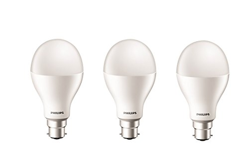 Philips Stellar Bright 20-Watt LED Bulb (Pack of 3, Cool Day Light)