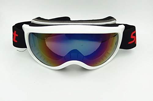 Yiph-Sunglass Sonnenbrillen Mode Neue Skibrille Anti-Fog und Sand-Beweis große sphärische Brille für Männer Frauen Klettern Schneebrille Reiten (Color : White)