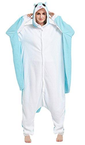 Imagen de la vogue pijama para mujer chica unisex cosplay disfraz de animal ardillas voladoras azul talla l/busto 124cm
