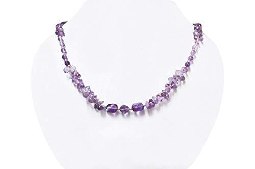Natürliche lila Amethyst Perlen Schmuck mit Sterling Silber Erkenntnisse Handgemachte Perlen Halskette 16