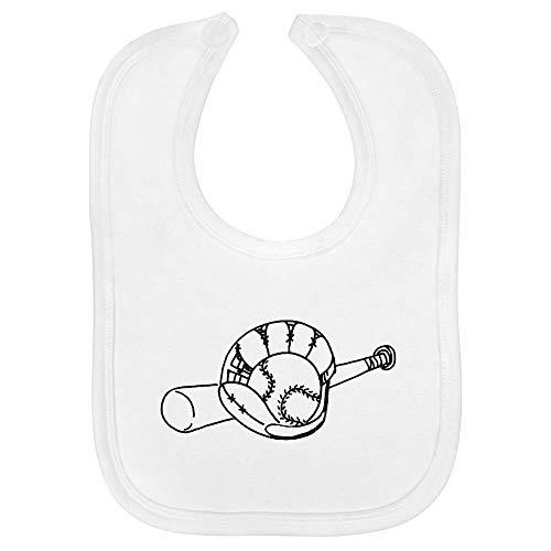 Azeeda 'Baseballschläger und Handschuh' Baby Lätzchen (BI00009203)