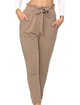 Mujer Cordón Lazo Moda Pantalone
