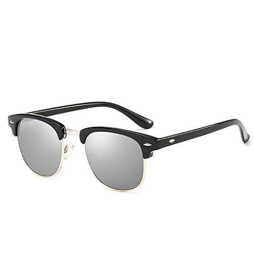 Sgfccyl Polarisierte Sonnenbrillen Männliche/weibliche Paare Brillen Treiber Fahren Farbfilm UV Schutz Fahren Angeln (Light Black Frame Grey) (Farbe : Schwarz)