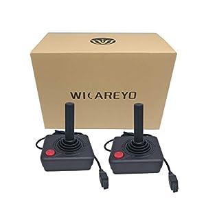 WiCareYo Schwarz Retro Classic Controller Gamepad Joysticks für Atari 2600 System konsole pack 2pcs