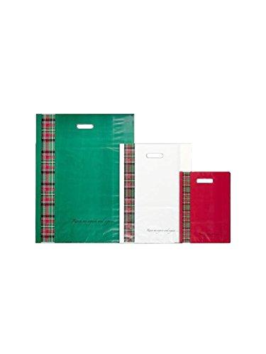 Umschlag Kilt gestanzter Griff Farbe weiß Kilt sfr00041Menge 240Stück (48+ 10+ 10x 65) (Weiße Kilt)