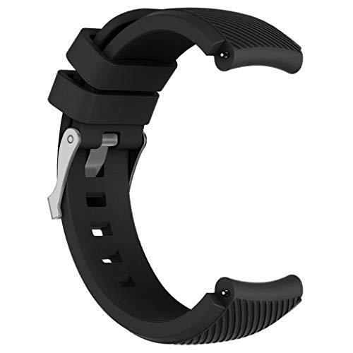 YUHUISTART Ersatz Silikon Uhrenarmband Armband Für Huawei Uhr GT Smart Watch 22mm (Für Huawei Watch GT Smart Watch 22mm, Schwarz)
