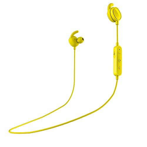 SPC Stork - Auriculares inalambricos (Manos Libres, Control Remoto de la música, micrófono incroporado), Color Amarillo
