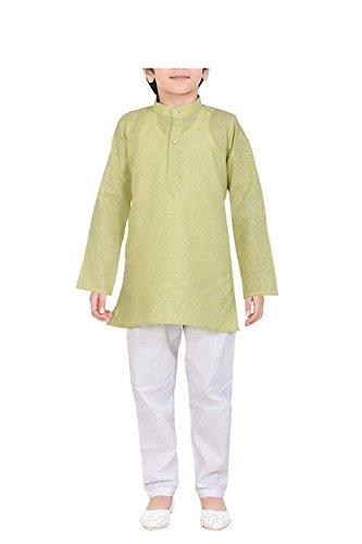 Royal 100% Cotton Kurta Pyjama Set For Kids (Cotton Pyjama Green)
