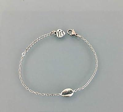 Bracelet coquillage, Bracelet femme gourmette coquillage en argent, bracelet argent, idée cadeau, bijoux cadeaux, bijou femme argent