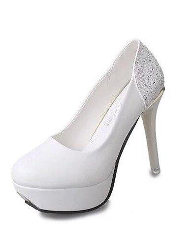WSS 2016 Chaussures Femme-Soirée & Evénement-Noir / Beige-Talon Aiguille-Talons-Talons-Polyuréthane black-us6.5-7 / eu37 / uk4.5-5 / cn37