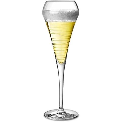 Copas de champán Open Up Arabesque 7 oz/200 ml - juego de 4   20 cl copas de champán, diseño de vasos de champán para degustación gafas, gafas