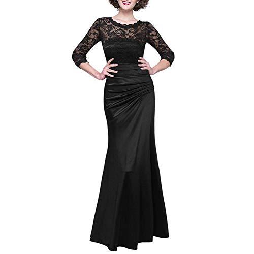 Henreal Fashion Autumn Women Sexy Long Dress Lace Splice segunda mano  Se entrega en toda España