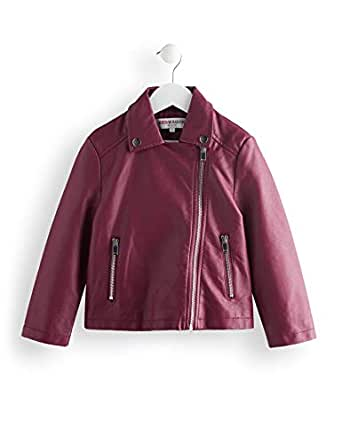 RED WAGON Zip Through Popper Biker Coat, Purple, 48 (size: 5)