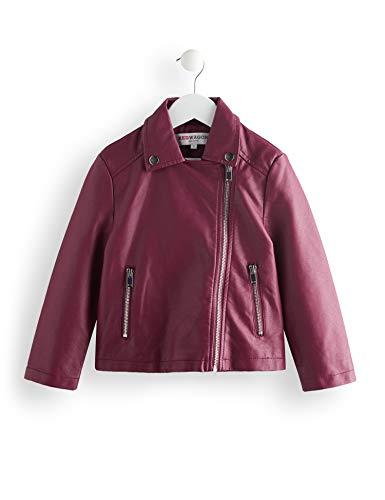 RED WAGON Mädchen PU Biker Jacket Mantel, Violett (Purple), 128 (Herstellergröße:8)