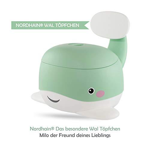 Nordhain Wal Töpfchen Mint mit freundlichem Design - rutschfeste Kinder Toilette, hochwertiger Toilettentrainer, 1-6 jährige Kinder (Mint)