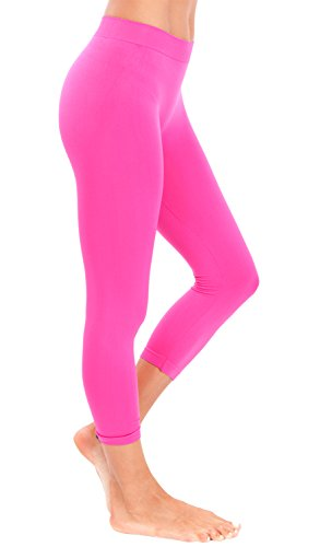 Neon Fuchsia Cropped Leggings