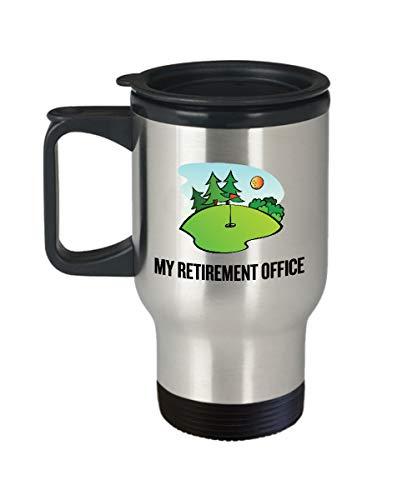 Divertida taza de viaje para golfista, regalo ideal para jugador de golf, regalo para la oficina de jubilación
