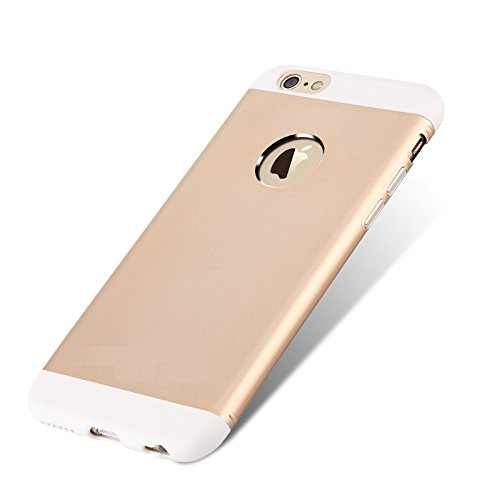 iAccessorize Totu Knight II Luxury Aluminum Alloy TPU Hybrid Metal Case Cover For Apple iphone 6 (Champagne Gold)