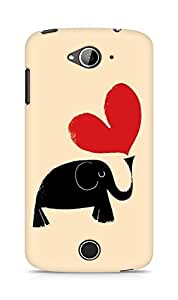 Amez designer printed 3d premium high quality back case cover for Acer Liquid Z530 (Hand Painted Elephant and Love Heart)