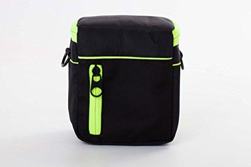 vhbw Polyester Kamera-Tasche schwarz-gelb für Samsung NX1000, NX1100, NX2000, NX300, NX3000, NX300M, NX500, WB1100F - Wb1100f Samsung Die Kameratasche Für