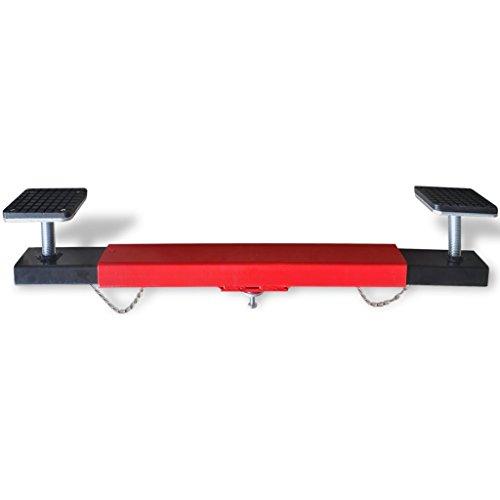vidaXL Croix adaptateur réglable de traverse faisceau 2 tonnes Rouge Pont élévateurpas cher