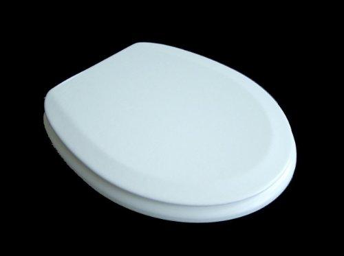 ADOB WC Sitz Polsi Soft gepolstert mit Edelstahlscharnieren, weiß, 69502