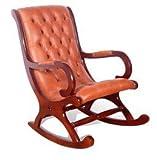 Designer Sofas4u Chesterfield York Schaukelstuhl Old English Sattel Leder