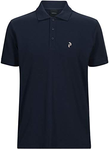 Peak Performance Herren Classic Pique Polo, Blue Shadow, L - Performance Pique Polo Golf