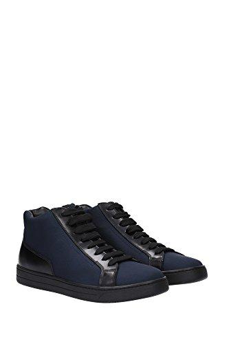 4T2998OLTREMARE Prada Sneakers Homme Tissu Bleu Bleu