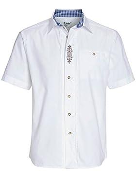 Distler Besticktes Trachtenhemd, Herren Herren-Hemd,Hemd,Trachten-Hemd,Weißes Hemd,