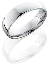 SlipRock Cobalt Chrome, Polished Domed Wedding Band (sz H to Z1)