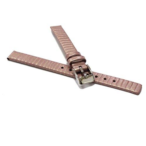 Alexis 10mm Alexis banda rosa Lagarto de piel auténtica correas de reloj relojes Band Primavera Bar y herramienta para quitar incluye wb1235d10gb