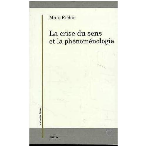 La crise du sens et la phénoménologie: Autour de la Krisis de Husserl ; suivi de Commentaire de L'Origine de la géométrie