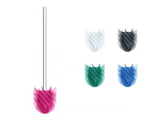 Sanwood 1240620 WATERCLOU innovative WC-Bürste ohne Borsten Toilettenbürste aus Silikon mit Acryl Stiel - pink