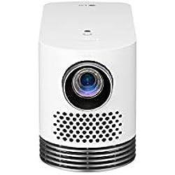 LG HF80LSR - Proyector láser Smart TV (Full HD, WebOS 4.0, 2000 lúmenes, Contraste 150,000:1, hasta 120 Pulgadas, lámpara Láser de hasta 20000 Horas de Vida útil) Blanco
