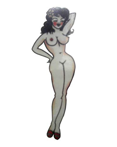 Horror-Shop Piraten Pin Up Girl Tattoo (Piraten Pin Up)