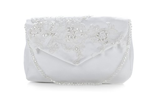 Frühlings-SALE! Brauttasche Abendtasche festliche Tasche helles Elfenbein