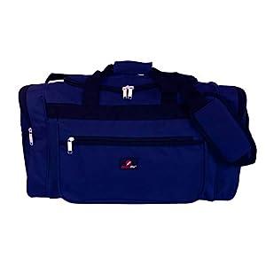 Bolsa de Viaje de Tamaño Medio Grande – Bolso de Viaje Ideal – Bolsas de Lona Negra Lisa – Múltiples Bolsillos – Capacidad de 50 litros – Medidas 55cm x 31 x 31 Ligera 0,8 kg – RL57N (Azul)