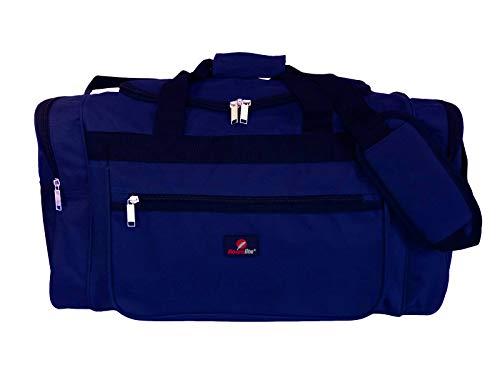 Reisetasche Mittelgroß – Wochenend- oder Übernachtungstasche - Ideale Tasche für Reisen – Seesack Tasche - Mehrere Fächer - 50 Liter Volumen, 0,8 Kg Leicht - Maße 55 x 31 x 31 cm - Blau RL57N